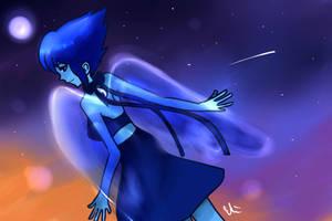 Water Angel Lapis Lazuli by ennielin
