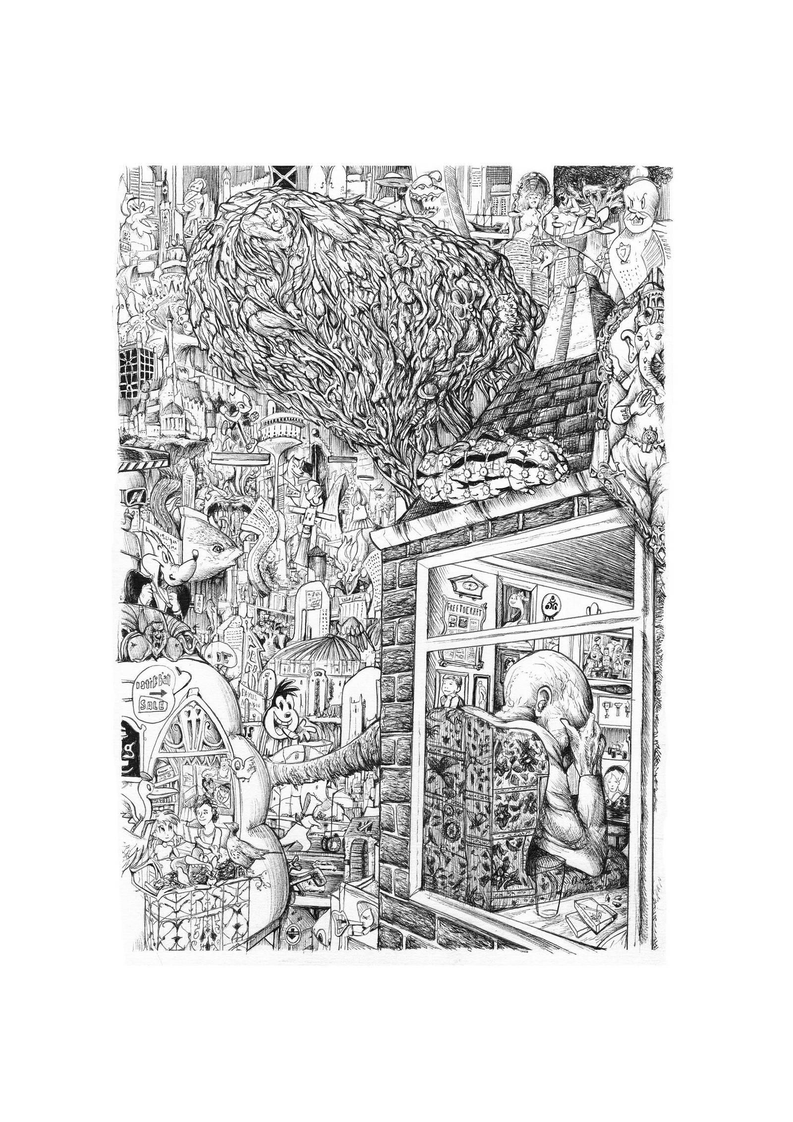 7 Ages of Man series Mental Demtia death by Jowybean