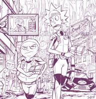 Morty Town patrol by Jowybean