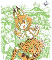 Kawaiicember Serval by Jowybean