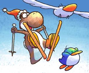 Ski Yoshi by teh-yoshi