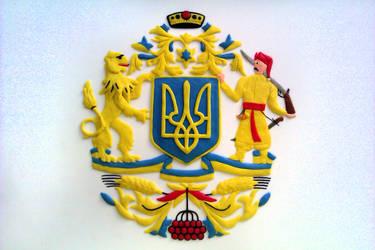Coat Of Arms Of Ukraine (Plasticine Model) by Nuclear-Pilot