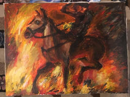 Horse through the Fires by Stardust-Legend