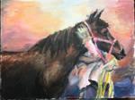 Faithful Stallion- (Acrylic Painting) by Stardust-Legend
