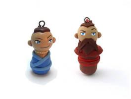 Sokka and Wang Fire Charms by Jequila