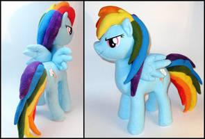 Rainbow Dash Plushie by Jequila