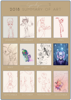 2018 Summary of Art by Crysenley