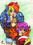 Rainbow Dash and Scootaloo by Jakov-Jakov