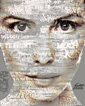 Typography effect on portrait by TaniaGarvin