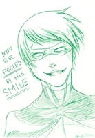 Mischievous Smile by mlle-annette