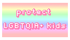Protect LGBTQIA+ Kids Stamp by oceanstamps