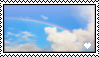 Rainbow Sky Stamp by oceanstamps