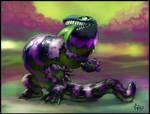 Fuzzy Lizard by CBSorgeArtworks
