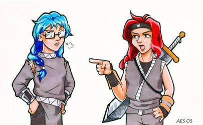 Cute Ninja Girls by laerry