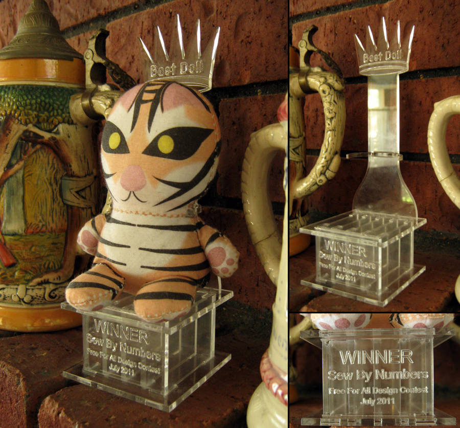 Sew By Numbers Laser Trophy by toenolla