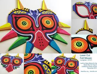 Majora's Mask Felt Mosaic WIPs by toenolla