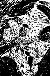 OPTIMUS PRIMAL | INKED SKETCH by GOICHIMONJI