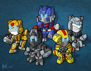 Commission - Movie Autobots by MattMoylan