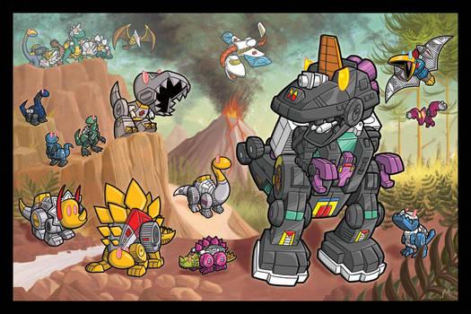 Dinobots Print by MattMoylan