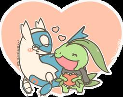 Poke'couple Commission by MinjiXMuu-chan