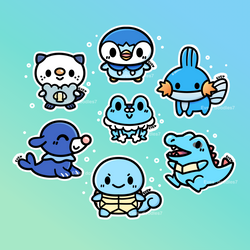 Pokemon Starter Challenge: Water Type! by MinjiXMuu-chan