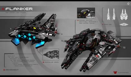 Flanker class light cruiser by bude2011