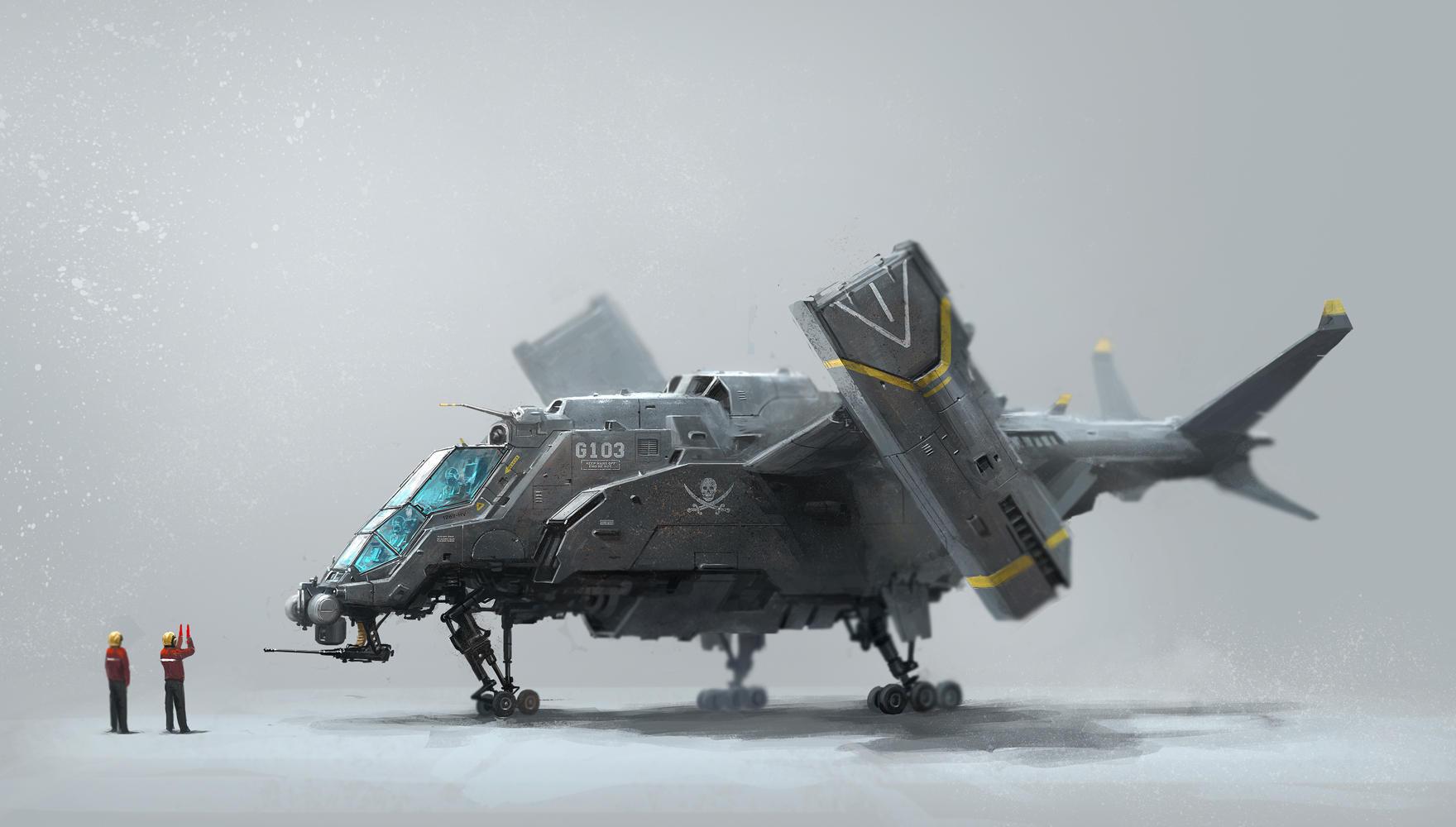 G103 aircraft by alex-ichim
