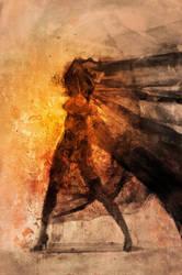 Burned Lady by kiavashjp