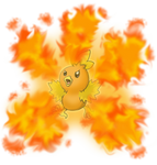 Torchic Flame Burst by shinragod