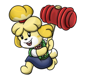 Isabelle Swings into Smash by shinragod