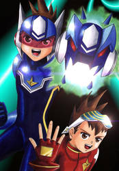 Rockman Mega Man Star Force by scarlet1100101