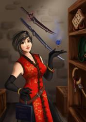 Fantasy shopkeeper by Vega-Highwell