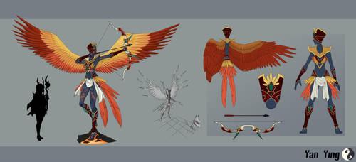 Game Concept Art - Yan Ying by Vega-Highwell