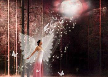 Forest angel by dustyuna