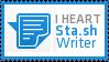 I Heart Sta.sh Writer by bradleysays