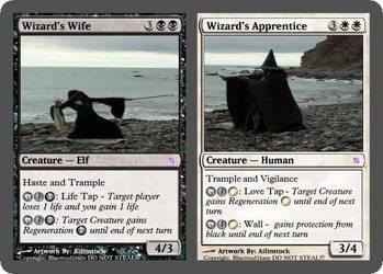 Wizards Wife-Apprentice-MGCard by blacwind1kaze