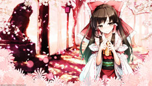 Shrine Maiden Wallpaper by AbsarNaeem