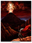Moses ascends Sinai by ArtistXero