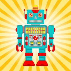 Retro Robot Toy by ArtistXero