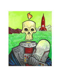 Astronaut Bones by ArtistXero