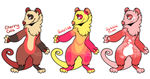 Awesome Opossum Adopts (3/3 open) by doodlepawss