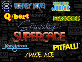 CBS Saturday Supercade Show Logos by ThePeoplesLima