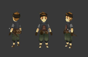 lowpoly character by kmre88