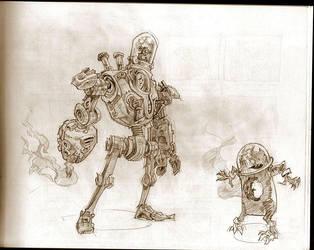 cyborg vs alien by Jastorama