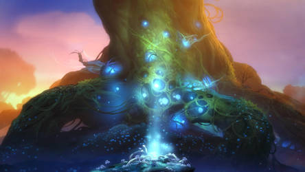 Ori and the Blind Forest - Spirit Tree by Jastorama
