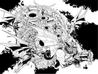 Superman Batman 39 double page by dfridolfs