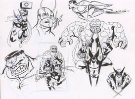Avengers Warmups 3 by dfridolfs