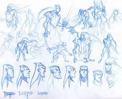Legynd Sketches by dfridolfs