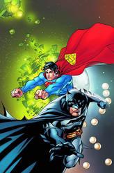 Superman Batman 37 cover by dfridolfs