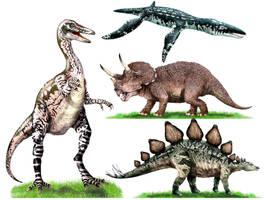 Dinosaurs by muttleymark